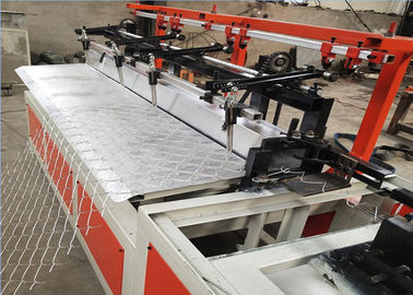 Full Automatic Single Wire Chain Link Mesh Machine , Diamond Mesh Making Machine